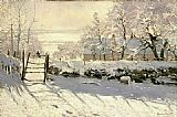 Claude Monet The Magpie painting