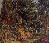 Claude Monet The Path at Giverny painting