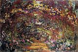 Claude Monet The Path under the Rose Trellises Giverny painting