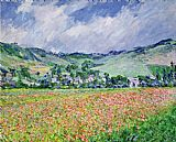 Claude Monet The Poppy Field Near Giverny painting
