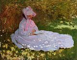 Claude Monet The Reader painting