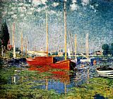 Venice paintings - The Red Boats by Claude Monet