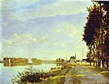 Claude Monet The Riverside Path at Argenteuil painting