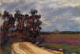 Claude Monet The Road and the House painting