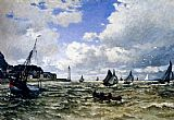 Lighthouse paintings - The Seine Estuary At Honfleur by Claude Monet