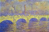 Claude Monet The Waterloo Bridge The Fog painting
