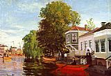 Claude Monet The Zaan at Zaandam 1 painting