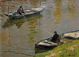 Claude Monet Two Anglers painting