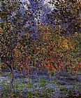 Claude Monet Under the Lemon Trees painting