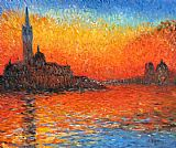 Venice paintings - Venice Twilight by Claude Monet