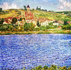 Claude Monet Vetheuil Afternoon painting