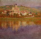Claude Monet Vetheuil Pink Effect painting
