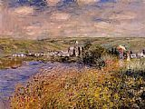Claude Monet Vetheuil Seen from Ile Saint Martin painting