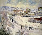 Claude Monet View of Argenteuil in the Snow painting