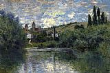 Claude Monet View of Vetheuil 1 painting