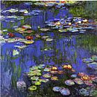 Claude Monet Water-Lilies 1914 painting