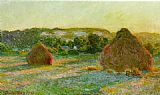 Claude Monet Wheatstacks End of Summer painting