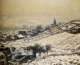 Claude Monet Winter At Giverny painting