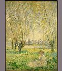 Claude Monet Woman under the Willows painting