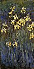 Claude Monet Yellow Irises 2 painting