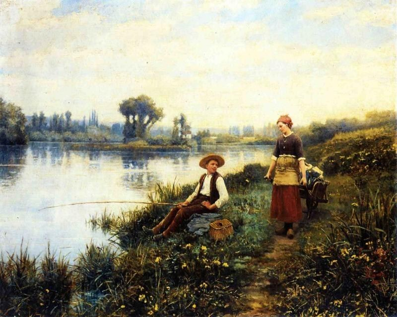 Daniel Ridgway Knight A Passing Conversation
