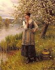 Daniel Ridgway Knight Beneath The Apple Tree painting