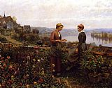 Daniel Ridgway Knight Gossiping painting
