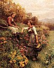 Daniel Ridgway Knight Marie and Diane painting