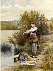 Daniel Ridgway Knight The Laundress painting