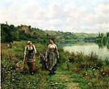 Daniel Ridgway Knight The Seine at Vernon painting