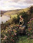 Daniel Ridgway Knight Waiting painting