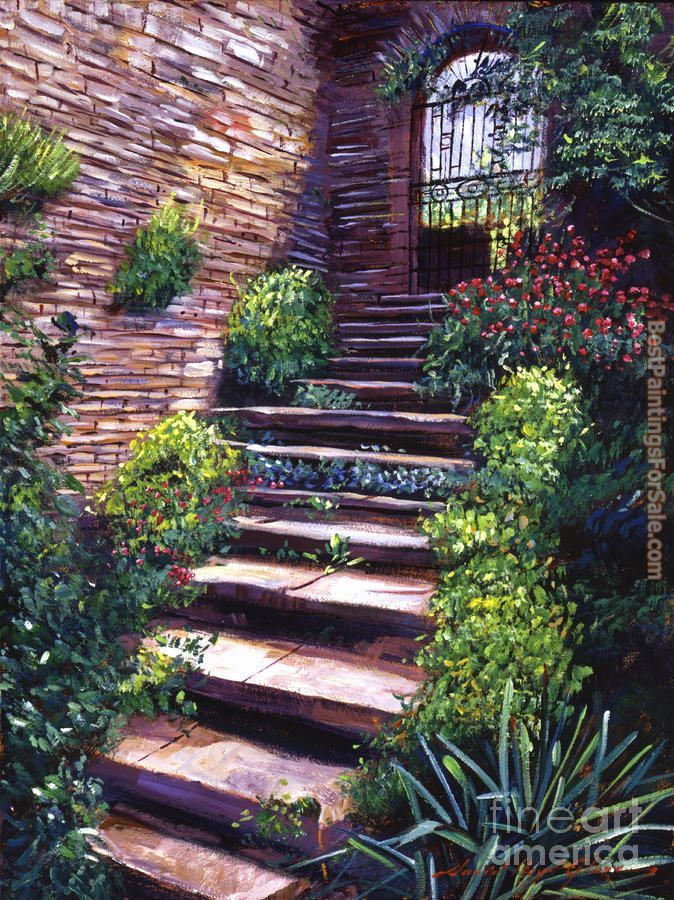 David Lloyd Glover Stone Steps Tuscany