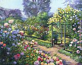 David Lloyd Glover An Evening Rose Garden painting