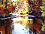 David Lloyd Glover Autumn Reflections painting