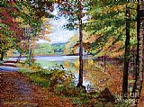 David Lloyd Glover Autumn at Rockefeller Park painting