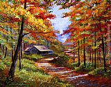 David Lloyd Glover Cabin In the Woods painting