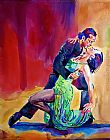 David Lloyd Glover Dance Intense painting