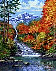 David Lloyd Glover Deep Falls in Autumn painting