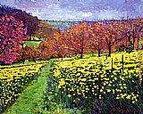 David Lloyd Glover Fields of Golden Daffodils painting
