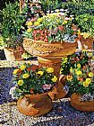 David Lloyd Glover Flower Pots in Sunlight painting