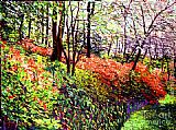 David Lloyd Glover Magic Flower Forest painting