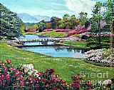 David Lloyd Glover Spring Flower Park painting