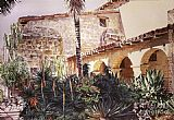 David Lloyd Glover The Cactus Courtyard painting