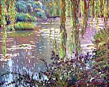 David Lloyd Glover homage to monet painting