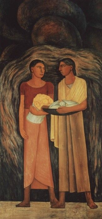 Diego Rivera Mujeres con Flores y Frutos (Women with Flowers and Vegetables