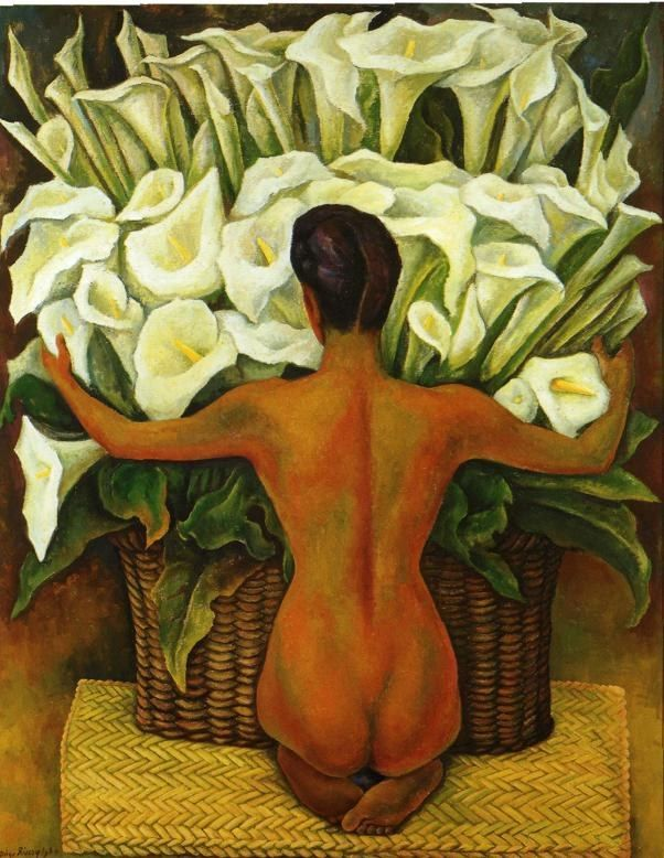 Diego Rivera Nude with Calla Lilies