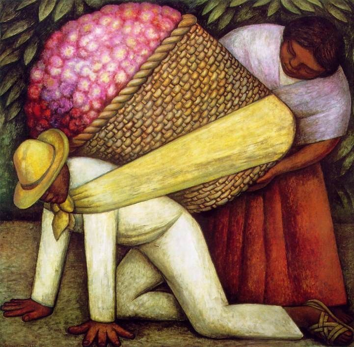 Diego Rivera The Flower Carrier I