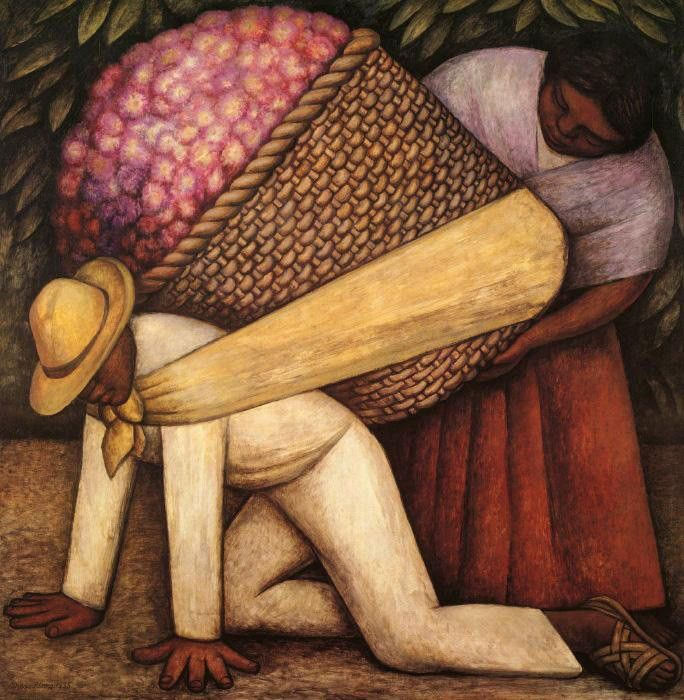 Diego Rivera The Flower Carrier