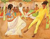 Diego Rivera Baile en The painting