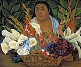Diego Rivera Flower Seller painting